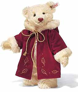 steiff christmas teddy bear 037580