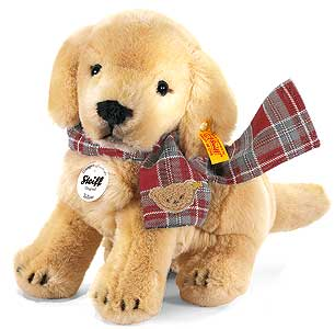 Little Scots Lumpi Golden Retriever With Scarf By Steiff 079498